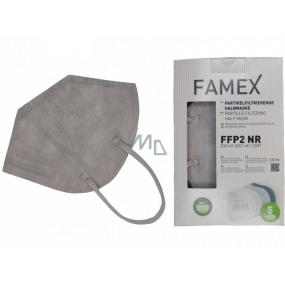 Famex Respirátor ústnej ochranný 5-vrstvový FFP2 tvárová maska šedá 1 kus