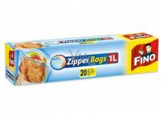 Fino Zipper Bags sáčky na zips 1 liter, 20 kusov