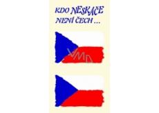 Arch Tetovacie obtlačky na tvár i telo Slovenská vlajka 2 motív