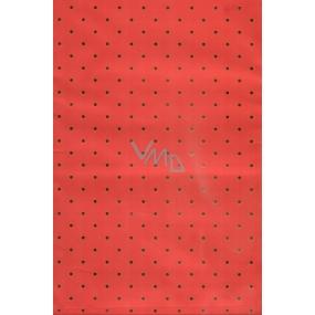 Nekupto Fóliový sáčok Červený s guličkami 20 x 35 cm