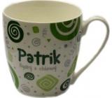 Nekupto Twister hrnek se jménem Patrik zelený 0,4 litru 059 1 kus