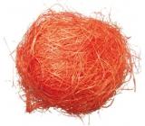Sisal oranžový dekoračné 30 g