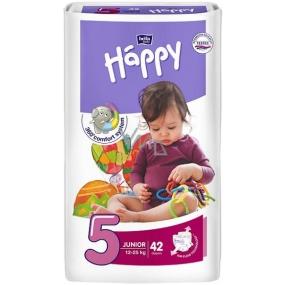 Bella Happy 5 Junior 12-25 kg plienkové nohavičky 42 kusov