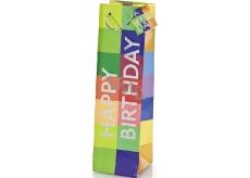 BSB Luxusná darčeková papierová taška na fľašu 36 x 10,5 x 10 cm Happy Birthday LDT 290-F