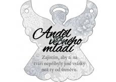 Albi Závěsná plaketka andílek Anděl věčného mládí 9 x 10 cm