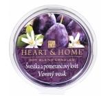 Heart & Home Švestka a pomarančový kvet Sójový prírodný voňavý vosk 27 g