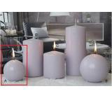 Lima Ice pastel sviečka svetlo fialová guľa 80 mm 1 kus