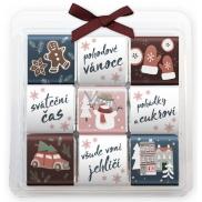 Nekupto Čokoládové puzzle vánoční, Sněhulák 9 x 5 g, 11 x 11,5 x 0,7 cm