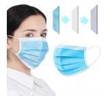 Rúška 3 vrstvová Premium netkaná jednorazová lekárska ochranná, nízky dýchací odpor 1 kus
