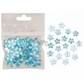 Kvetinky samolepiace modré 2 cm 20 kusov