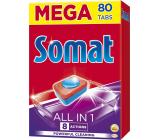 Somat All In 1 8 Actions tablety do umývačky sa silou kyseliny citrónovej pre čisté a žiarivé riadu 80 kusov