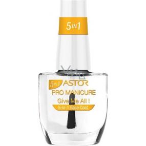 Astor Pro Manicure 5v1 Base Coat podkladová péče na nehty 001 Give Me All! 12 ml