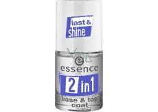 Essence 2in1 Base & Top Coat podkladový a krycí lak na nehty 8 ml