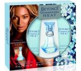 Beyoncé Shimmering Heat parfémovaná voda pro ženy 30 ml + sprchový gel 75 ml + tělové mléko 75 ml, kosmetická sada