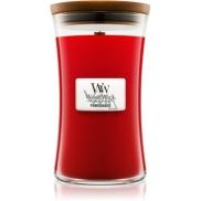 WoodWick Pomegranate - Granátové jablko vonná svíčka s dřevěným knotem a víčkem sklo velká 609,5 g