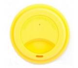 Jack N Jill BIO Silikónové viečko na téglik žlté 8,7 x 1,8 cm