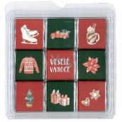 Nekupto Čokoládové puzzle vianočné Korčule 11 x 11,5 x 0,7 cm, 9 x 5 g