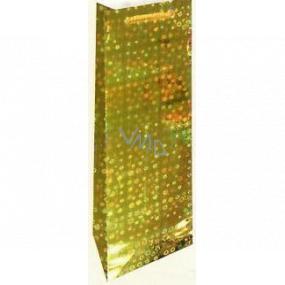 Nekupto Darčeková papierová taška na fľašu 33 x 10 x 9 cm Zlatá holografická 110 01 THLH