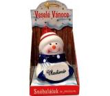 Nekupto Sněhuláček se jménem Vladimír Vánoční dekorace 077 rozměr 8 cm
