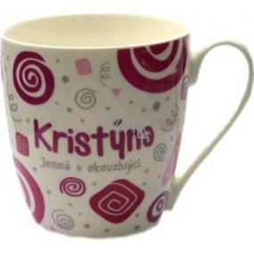 Nekupto Twister hrnek se jménem Kristýna růžový 0,4 litru