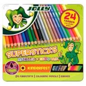 Jolly Sada pastelek 12 základních, 8 metalických, 4 neonové barvy 24 ks
