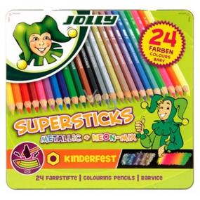 Jolly Sada pasteliek 12 základných, 8 metalických, 4 neónové farby 24 kusov