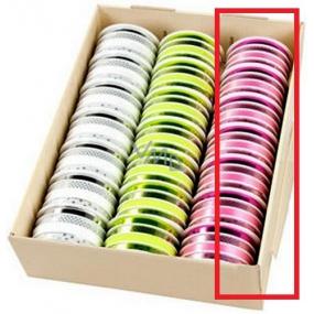 Ditipo Stuha multi trendy colours ružová mix 16 mx 10 mm