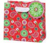 BSB Luxusní dárková papírová taška 14,5 x 15 x 6 cm Červená LDT 359-CD