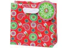 BSB Darčeková papierová taška malá 14,5 x 15 x 6 cm Červená LDT 359-CD