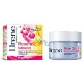 Lirene Essential Oils Rose Ružový olej vyhladzujúci denný a nočný krém pre všetky typy pleti 50 ml