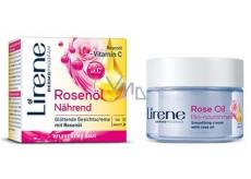 Lirene Essential Oils Rose Růžový olej vyhlazující denní a noční krém pro všechny typy pleti 50 ml