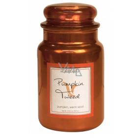 Village Candle Hrejivá tekvice - Pumpkin Tweed vonná sviečka v skle 2 knôty 602 g