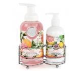 Michel Design Works Ružový grapefruit peniace tekuté mydlo na ruky 530 ml + mlieko na ruky a telo 236 ml, kozmetická sada