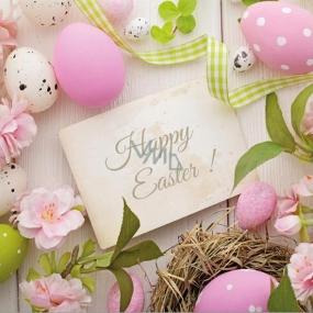 Aha Veľkonočné papierové obrúsky 3 vrstvové 33 x 33 cm 20 kusov Happy Easter!