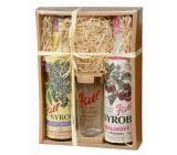 Kitl Syrob Bio Bazový kvet sirup 500 ml + Malina s dužinou sirup pre domáce limonády 500 ml + pohár 200 ml, darčekové balenie