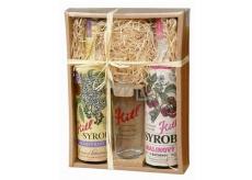 Kitl Syrob Bio Bazový kvet + Malinový s dužinou sirup pre domáce limonády 2 x 500 ml darčekové balenie