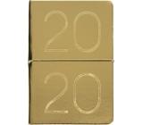 Albi Diár 2020 týždenný metalický Zlatý 19 x 13 x 0,7 cm