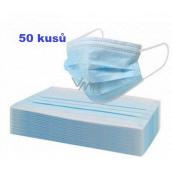 Rúška jednorazová, tvárová maska modrá 50 kusov