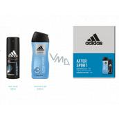 Adidas After Sport deodorant sprej pre mužov 150 ml + 3v1 sprchový gél na telo, vlasy a tvár 250 ml, kozmetická sada