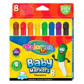 Colorino Fixky Smile, s guľatou špičkou 8 farieb pre deti