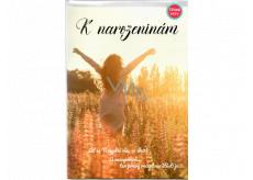 Albi Hracie prianie do obálky K narodeninám Dievča na lúke Chcem tancovať Mirai 14,8 x 21 cm