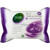 Pure 3v1 Odličovací vlhčené ubrousky 25 kusů