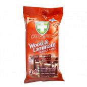 Green Shield Wood & Laminate 4v1 na drevo a lamináty antibakteriálne vlhčené obrúsky 50 kusov