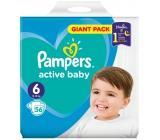 Pampers Active Baby 6 Extra Large 13-16 kg jednorázové plenky 56 kusů