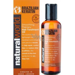 Natural World Brazilian Keratin Smoothing Therapy Hair Treatment Oil regenerační vlasový olej 100 ml