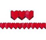 Girlanda Srdiečka červená veľká 400 x 19 cm