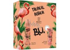 BU Tropical Passion telový sprej pre ženy 200 ml + telové mlieko 50 ml, kozmetická sada