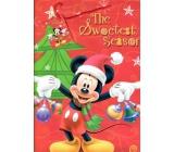 Ditipo Disney Darčeková papierová taška pre deti Mickey Mouse drží ozdoby 26,4 x 12 x 32,4 cm