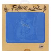 Albi Fitness uterák Rukavice modrý 90 x 50 cm