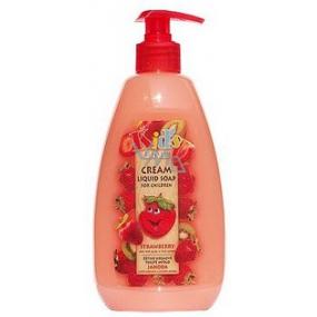 Bohemia Gifts & Cosmetics Kids Jahoda tekuté mýdlo 500 ml